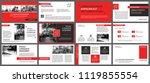 red and white element for slide ... | Shutterstock .eps vector #1119855554