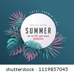 summer sale background layout... | Shutterstock .eps vector #1119857045
