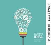 creative ideas concept. light... | Shutterstock .eps vector #1119859814