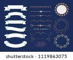 set of vector graphic elements... | Shutterstock .eps vector #1119863075