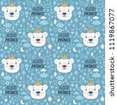 vector seamless pattern with... | Shutterstock .eps vector #1119867077