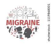 migraines banner. migraine...   Shutterstock .eps vector #1119868001