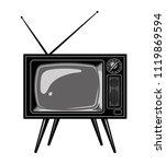 old tv set template in vintage... | Shutterstock .eps vector #1119869594