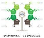 vertical timeline infographics. ... | Shutterstock .eps vector #1119870131