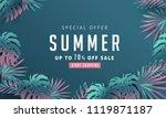 summer sale background layout... | Shutterstock .eps vector #1119871187