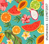 seamless pattern with fruits... | Shutterstock .eps vector #1119872057