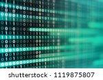 power of big data. binary code... | Shutterstock . vector #1119875807