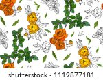 floral seamless pattern with... | Shutterstock .eps vector #1119877181