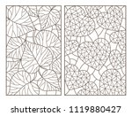 set of contour illustrations... | Shutterstock .eps vector #1119880427