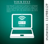 laptop and free wi fi wireless...   Shutterstock .eps vector #1119881129