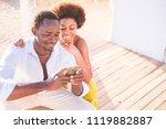 beautiful couple of black race...   Shutterstock . vector #1119882887