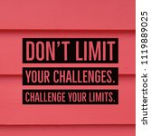 inspirational motivational... | Shutterstock . vector #1119889025