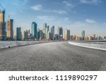 the empty asphalt road is built ... | Shutterstock . vector #1119890297