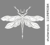 monochrome abstract dragonfly... | Shutterstock .eps vector #1119890384