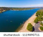 aerial drone view of sacramento ... | Shutterstock . vector #1119890711