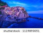 manarola   village of cinque... | Shutterstock . vector #1119893051