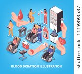 donation and blood bank medical ... | Shutterstock .eps vector #1119893537