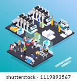 advertising agency personnel... | Shutterstock .eps vector #1119893567