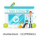 vector cartoon style... | Shutterstock .eps vector #1119900611
