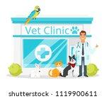 vector cartoon style... | Shutterstock .eps vector #1119900611