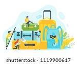 vector flat style illustration... | Shutterstock .eps vector #1119900617