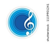 music background with violin... | Shutterstock .eps vector #1119901241