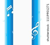 music background with notes.... | Shutterstock .eps vector #1119901271