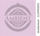ambient retro style pink emblem | Shutterstock .eps vector #1119905051