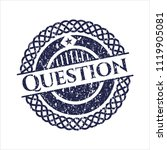 blue question rubber grunge seal | Shutterstock .eps vector #1119905081