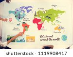 kids studying geography in... | Shutterstock . vector #1119908417