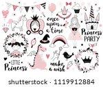 princess design elements  ... | Shutterstock .eps vector #1119912884