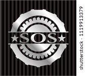 sos silver badge | Shutterstock .eps vector #1119913379