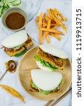 delicious homemade meals  ...   Shutterstock . vector #1119913715