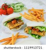 delicious homemade meals  ...   Shutterstock . vector #1119913721