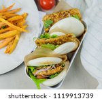 delicious homemade meals  ...   Shutterstock . vector #1119913739