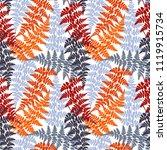 fern frond herbs  tropical... | Shutterstock .eps vector #1119915734