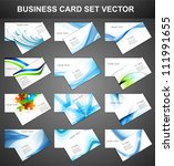 abstract Various 12 Business Card set collection vector | Shutterstock vector #111991655