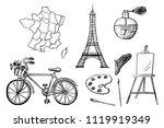 part 1. french design elements... | Shutterstock .eps vector #1119919349