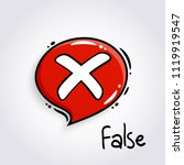 red speech bubble with cross... | Shutterstock .eps vector #1119919547
