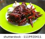 organic vegetable  hot chilli... | Shutterstock . vector #1119920411