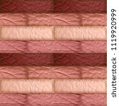 seamless leather patchwork... | Shutterstock . vector #1119920999