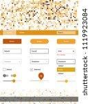 light orange vector ui kit with ...