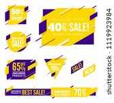 creative dynamic sale badges... | Shutterstock .eps vector #1119923984