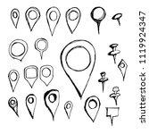 hand drawn sketch doodle vector ... | Shutterstock .eps vector #1119924347