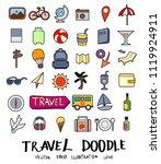 hand drawn sketch doodle vector ... | Shutterstock .eps vector #1119924911