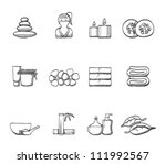 spa related icon series in... | Shutterstock .eps vector #111992567