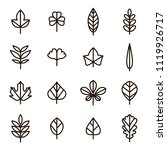 leaf signs black thin line icon ... | Shutterstock .eps vector #1119926717