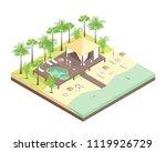 rest house concept 3d isometric ...   Shutterstock .eps vector #1119926729