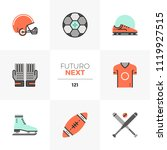modern flat icons set of... | Shutterstock .eps vector #1119927515