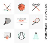 modern flat icons set of... | Shutterstock .eps vector #1119927521